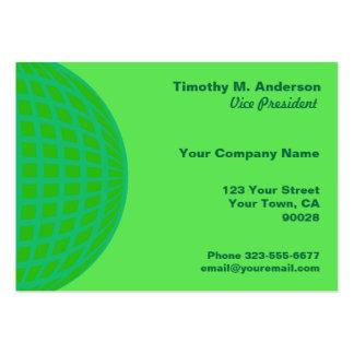 Círculo verde-claro da modificação de turquesa cartão de visita grande