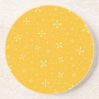 Círculos amarelos da colheita porta copos de arenito