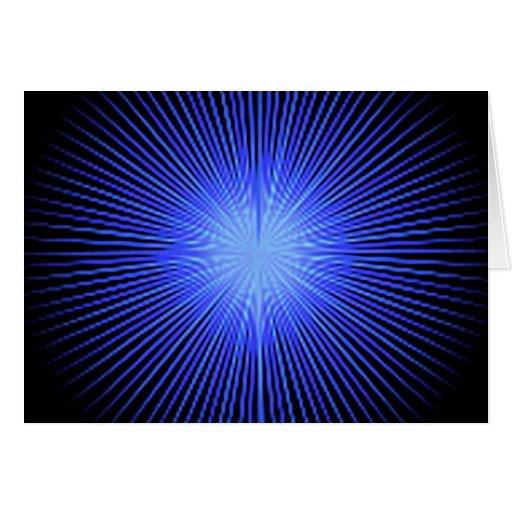 Círculos azuis do espírito cartão
