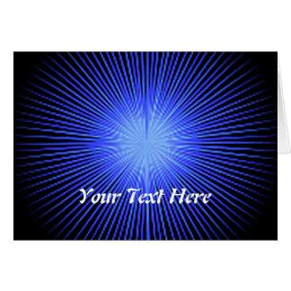 Círculos azuis do espírito cartão comemorativo