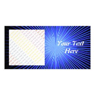 Círculos azuis do espírito cartão com foto