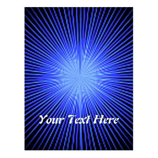 Círculos azuis do espírito cartoes postais