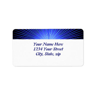 Círculos azuis do espírito etiqueta de endereço