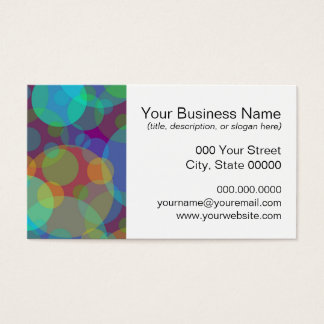 Círculos coloridos da arte abstracta do cartão de visitas
