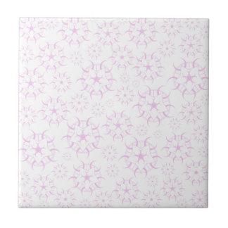 Círculos cor-de-rosa da colheita azulejo quadrado pequeno
