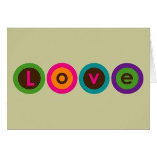 Círculos do amor - cartão