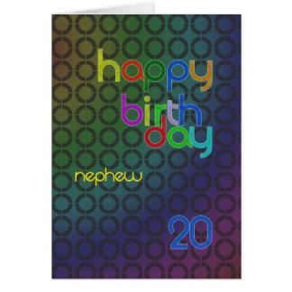 Círculos do aniversário para o sobrinho envelhecid cartões