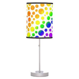 Círculos do arco-íris luminária de mesa