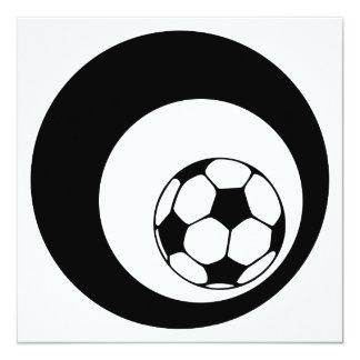 círculos do futebol convite quadrado 13.35 x 13.35cm
