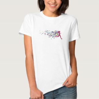 Círculos do rosa da menina do corredor tshirt