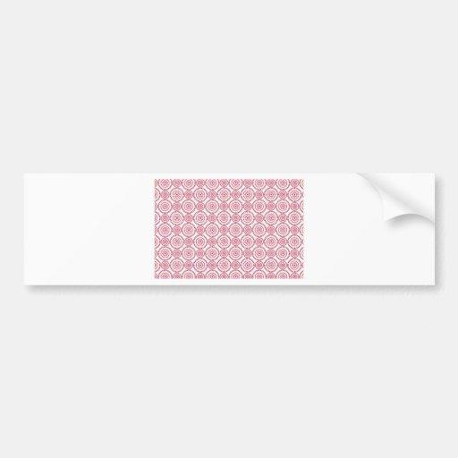 Círculos femininos cor-de-rosa adesivo