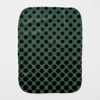 Círculos pretos de conexão em cascata verdes escur paninho de boca