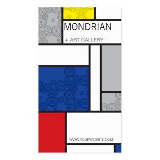 Círculos retros de Stijl da arte minimalista de Modelo Cartões De Visitas