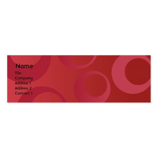 Círculos vermelhos - magros modelos cartao de visita