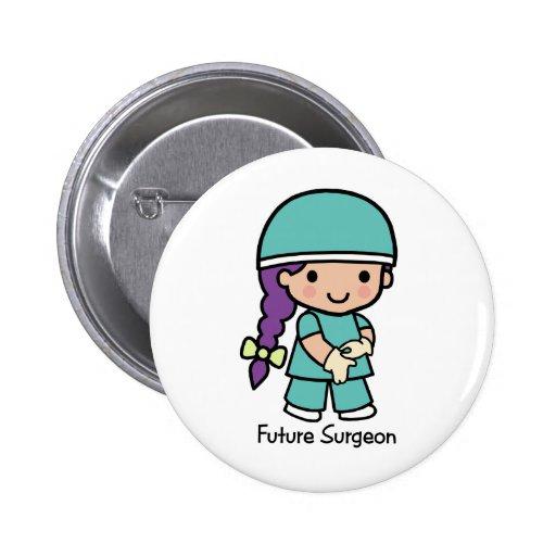 Cirurgião futuro - menina botons