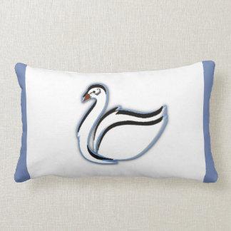 Cisne almofada para bebés e meninos em azul de