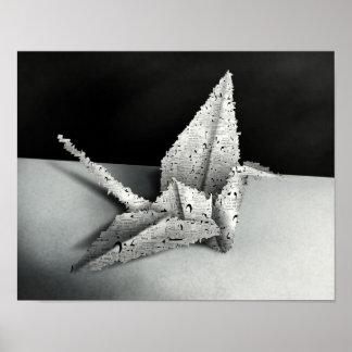 Cisne de Origami - impressão do poster da arte de