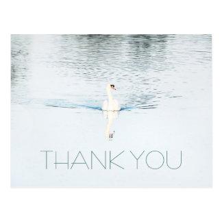 Cisne no obrigado minimalista da água você cartão