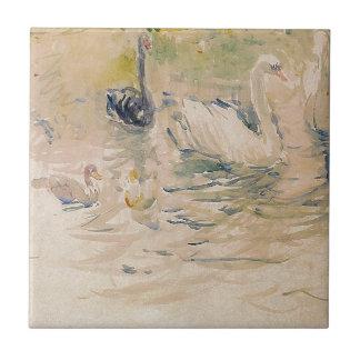 Cisnes por Berthe Morisot