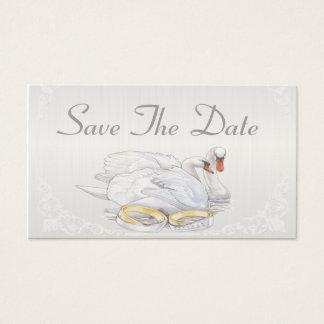 Cisnes - salvar o cartão de data