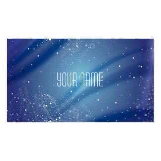 Citações azuis do sonho da noite estrelado modelos cartao de visita