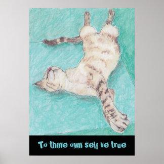 Citações bonitos shakespeare dos desenhos dos gato posteres