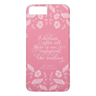 Citações Bookish florais de Jane Austen do orgulho Capa iPhone 8 Plus/7 Plus