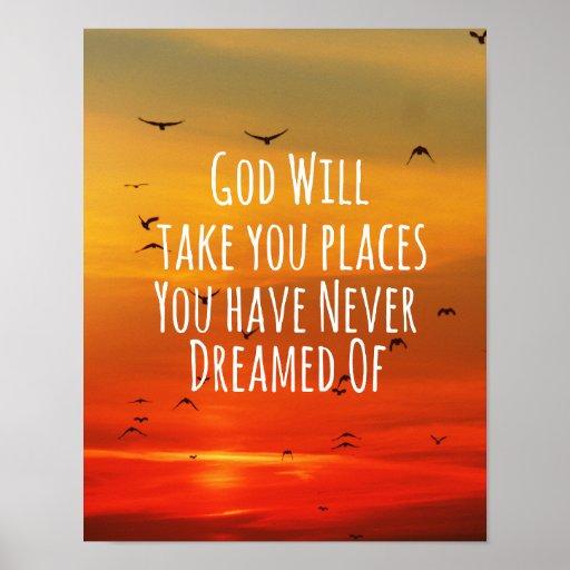 Citações cristãs inspiradas: O deus vai faz4e-lo Posteres