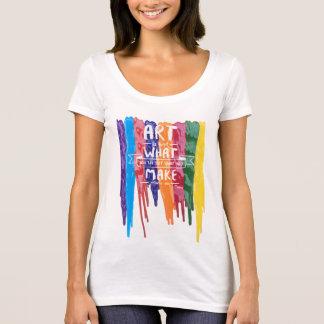 Citações da arte de Edgar Degas Camiseta