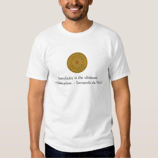 Citações da arte de Leonardo da Vinci Camisetas