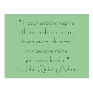 Citações da liderança de John Quincy Adams Cartões Postais