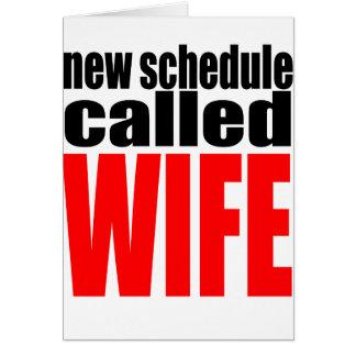 citações da realidade do newlywed da programação cartão comemorativo