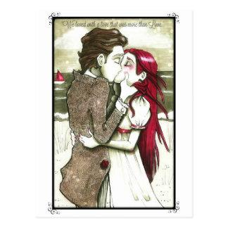 Citações de Edgar Allan Poe do cartão do amor