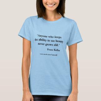 Citações de Franz Kafka na beleza Camiseta