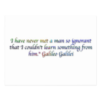 Citações de Galileo Galilei Cartão Postal