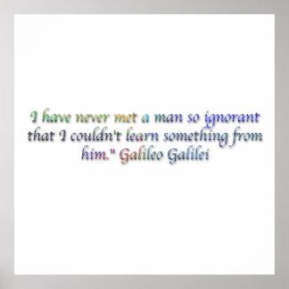 Citações de Galileo Galilei Posteres