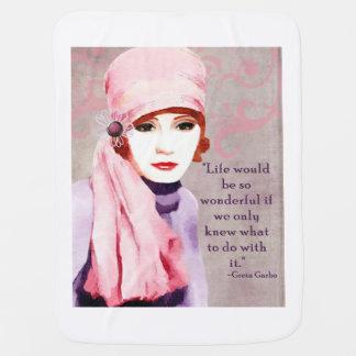 Citações de Greta Garbo na vida Cobertor Para Bebe
