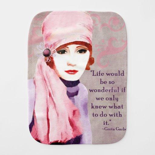 Citações de Greta Garbo na vida Fraldinha De Boca