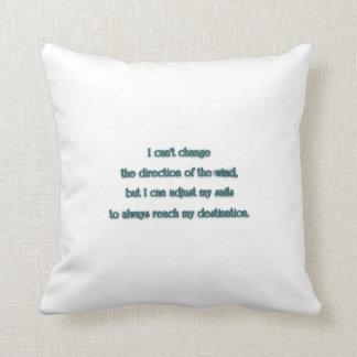 Citações de inspiração - eu não posso mudar o almofada
