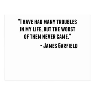 Citações de James Garfield Cartão Postal