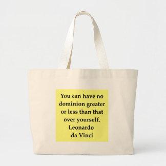 citações de Leonardo da Vinci Bolsas