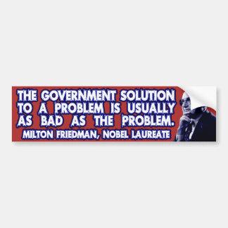 Citações de Milton Friedman em soluções do governo Adesivo Para Carro