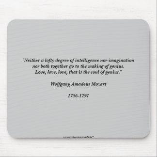Citações de Mozart Mouse Pad