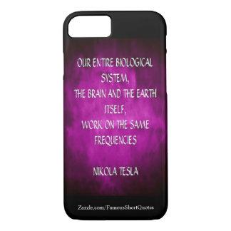 Citações de Nikola Tesla - as mesmas freqüências Capa iPhone 8/ 7