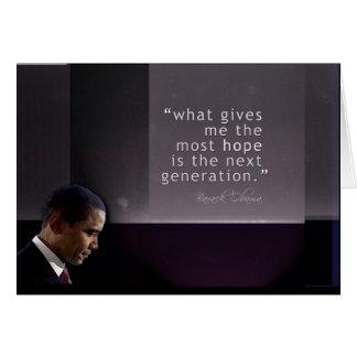 Citações de Obama Cartão Comemorativo