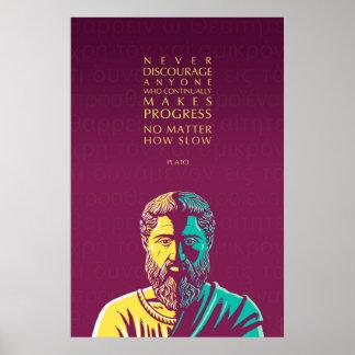 Citações de Plato: Progresso Poster