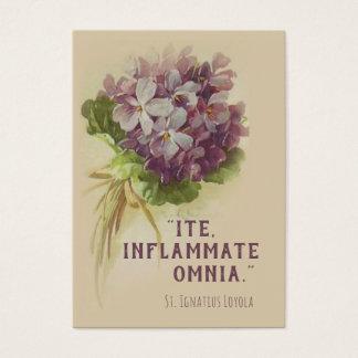 Citações de St Ignatius Loyola com o cartão