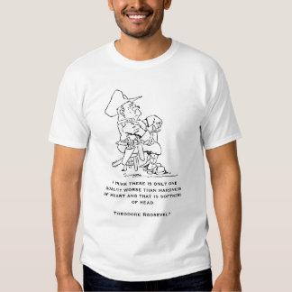 Citações de Theodore Roosevelt T-shirts