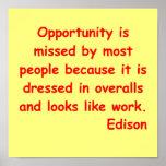 Citações de Thomas Edison Posters