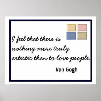 - Citações de Van Gogh - impressão verdadeiramente